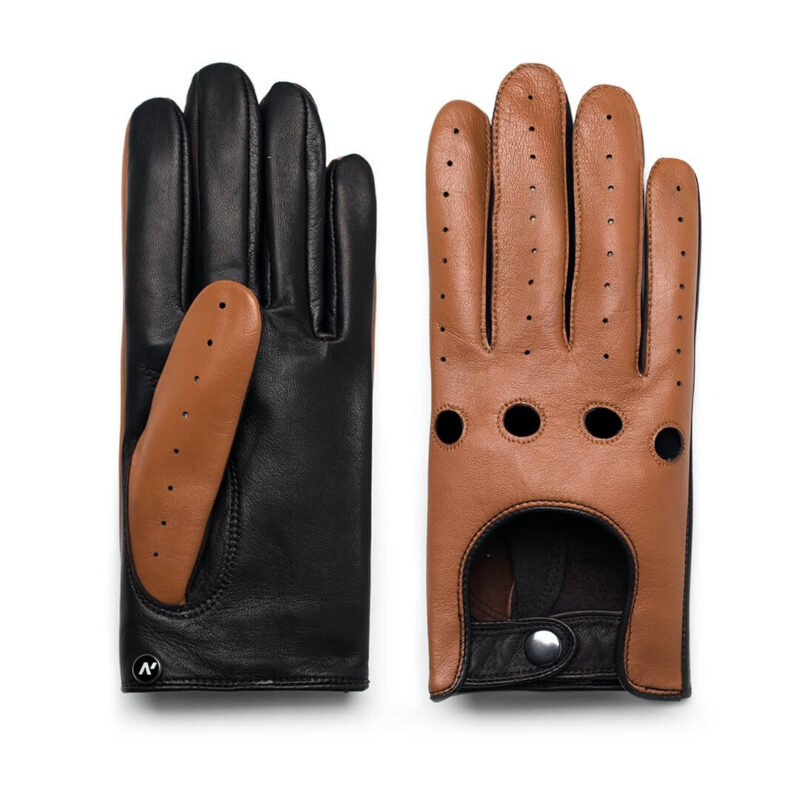napoDRIVE (brown/camel) - Men's driving gloves without lining made of lamb nappa leather #2