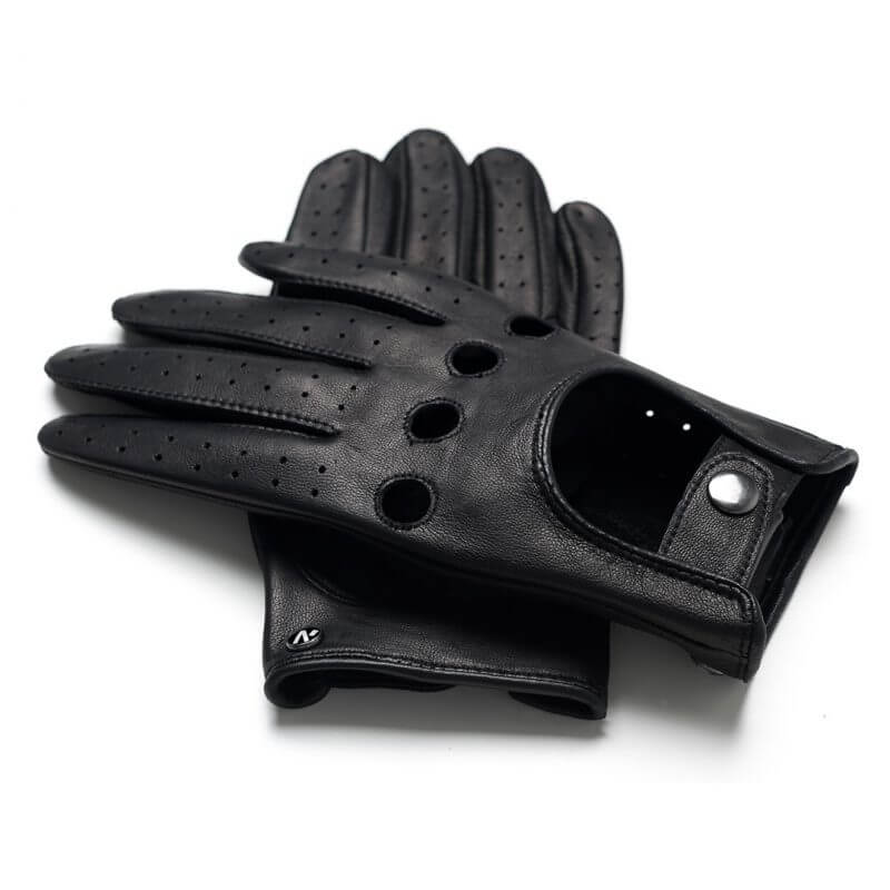 napoDRIVE (black) - Men's driving gloves without lining made of lamb nappa leather