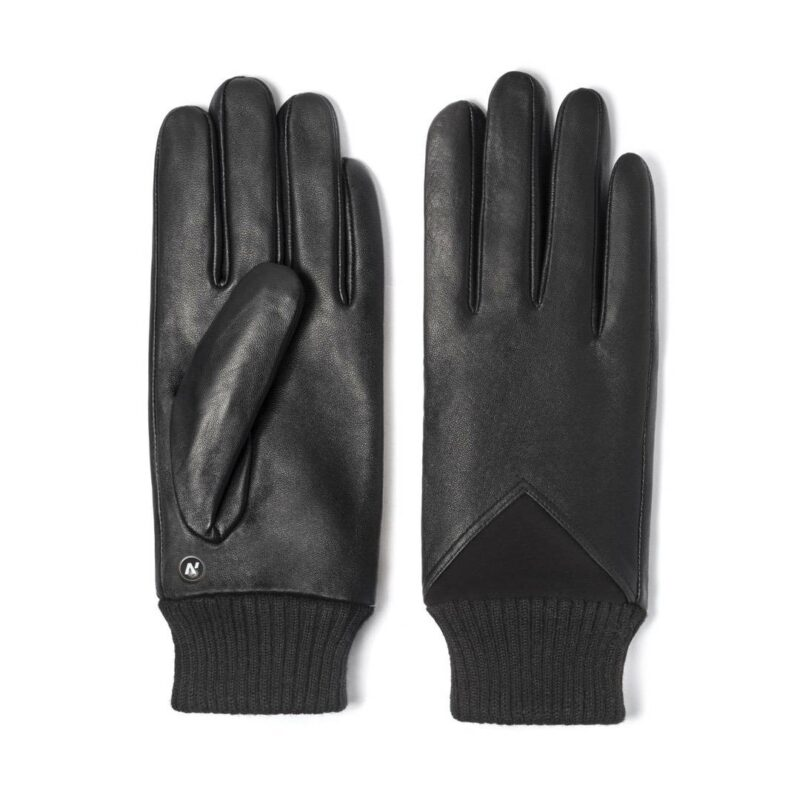 napoSPORT (black) - Men's gloves with lining made of lamb nappa leather #2