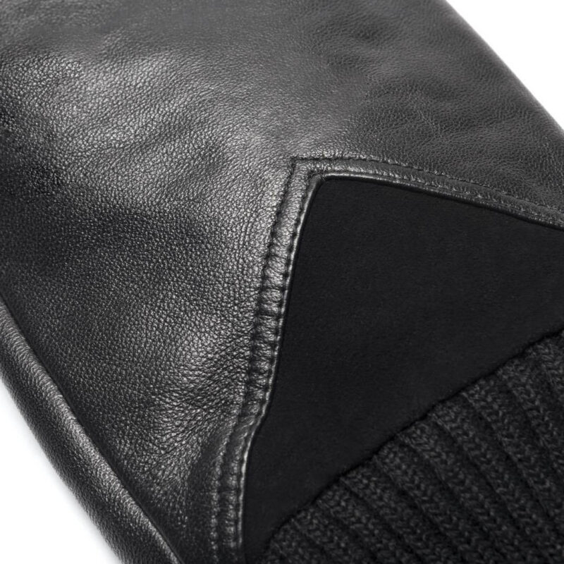 napoSPORT (black) - Men's gloves with lining made of lamb nappa leather #3