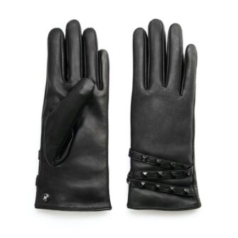 napoSTUD (black) - Women's gloves with lining made of lamb nappa leather #2