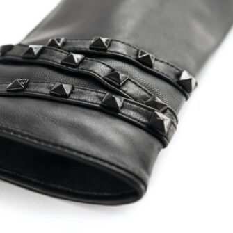 napoSTUD (black) - Women's gloves with lining made of lamb nappa leather #3