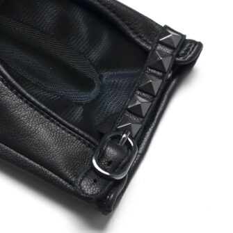 napoROCK (black) - Women's driving gloves with thin lining made of natural lamb nappa leather #3