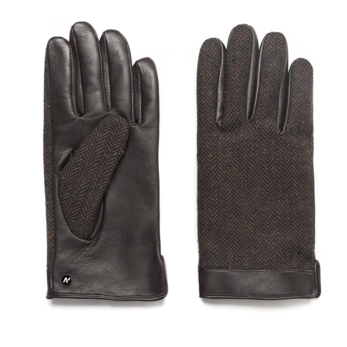 napoGENT (brown) - Men's gloves with lining made of lamb nappa leather with #2