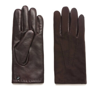 napoSUEDE (brown) - Men's gloves with cashmere lining made of lamb nappa leather #2