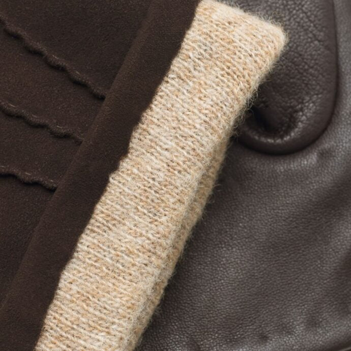 napoSUEDE (brown) - Men's gloves with cashmere lining made of lamb nappa leather #3