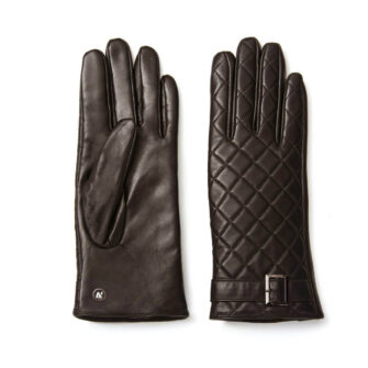 napoELEGANT (brown) - Women's gloves with lining made of lamb nappa leather #2