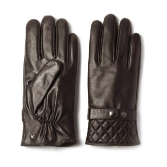 napoMODERN (brown) - Men's gloves with lining made of lamb nappa leather #2
