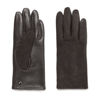 napoROSE (brown) - Women's gloves with lining made of lamb nappa leather #2