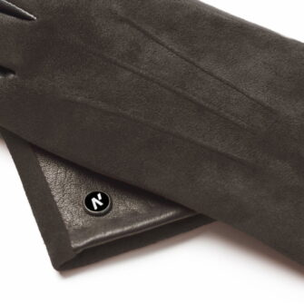 napoROSE (brown) - Women's gloves with lining made of lamb nappa leather #3
