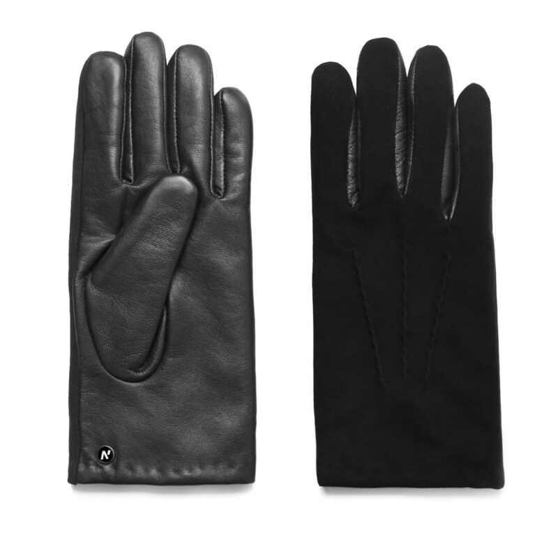 napoSUEDE (black) - Men's gloves with cashmere lining made of lamb nappa leather #2