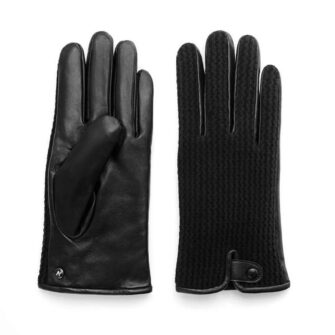 napoWOOL (black) - Men's gloves with lining made of lamb nappa leather #2